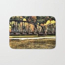 West VA Train Bridge Bath Mat