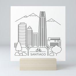 Santiago en línea Mini Art Print
