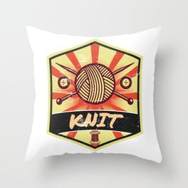 Knitting Propaganda | Knit Wool Hobby Throw Pillow