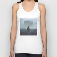 giants Tank Tops featuring Boy and the Giants by yurishwedoff