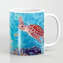 Zach's Seascape - Sea turtles Coffee Mug