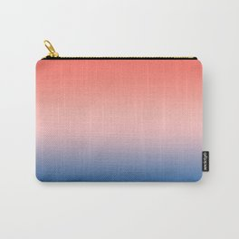 Living Coral Millennial Pink Princess Blue Ombre Pattern Trendy Colors of Year 2019 Carry-All Pouch