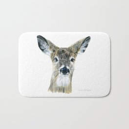 Doe Eyes by Teresa Thompson Bath Mat