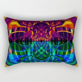 Fire and ice abstract Rectangular Pillow