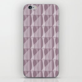 Simple Geometric Pattern 2 in Musk Mauve iPhone Skin