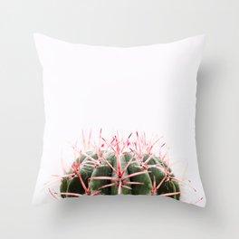 cactus red Throw Pillow