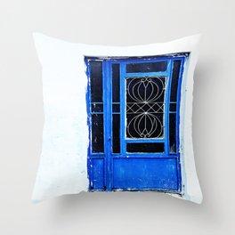 Greek Blue Throw Pillow