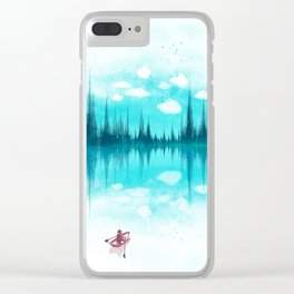 Sound Of Nature Clear iPhone Case