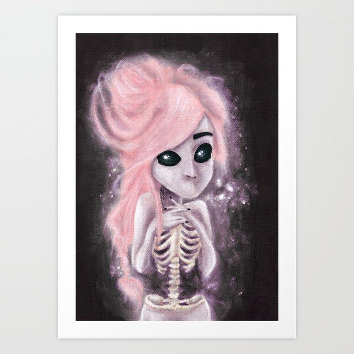aliena skeleton Art Print