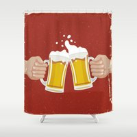 beer Shower Curtains featuring beer by Leandro Lopes