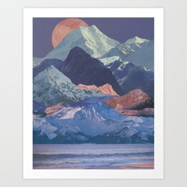 Rainbow Ranges Art Print