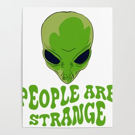 Be strange even in the outer space with this unique and creepy tee design! Makes a nice gift too!  Poster