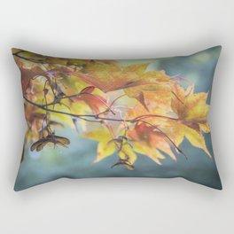 Yellow Acer Leaves Rectangular Pillow