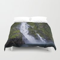 waterfall Duvet Covers featuring Waterfall.. by Michelle McConnell