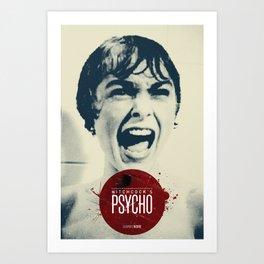 Hitchcock's Psycho Art Print