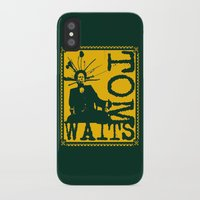 tom waits iPhone & iPod Cases featuring Tom Waits by Silvio Ledbetter