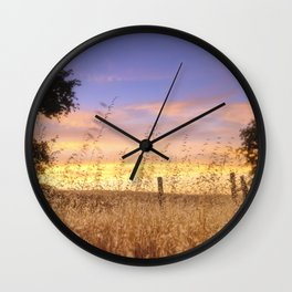 Evening Glow a country sunset Wall Clock