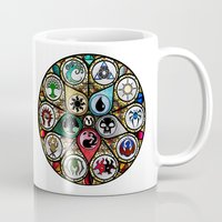 magic the gathering Mugs featuring Magic the Gathering - Stained Glass by omgitsmagic