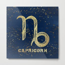 Capricorn Zodiac Sign Metal Print