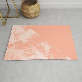 Sweet Life Paint Swipes Peach Coral Pink Rug