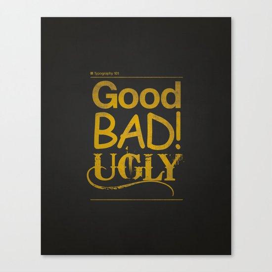 Typography 101 Canvas Print