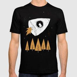laika(purple) T-shirt