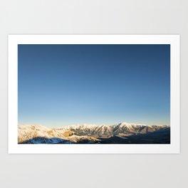 Mountain Ranges Art Print