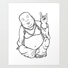 Peace, Love, and Rock n' Roll Art Print