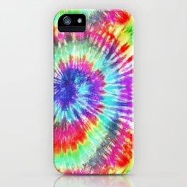 Summer Vibes Tie Dye in Rainbow Swirl iPhone Case