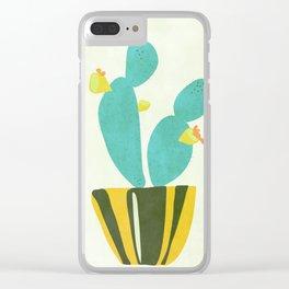 Modern Cactus Clear iPhone Case