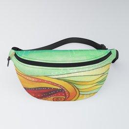 Multicolor Wave Fanny Pack