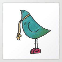Birdie Referee Art Print