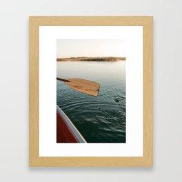 Sunrise Canoe #3 Framed Art Print
