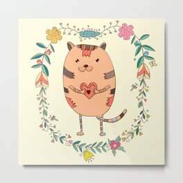 Cute lovely cat Metal Print