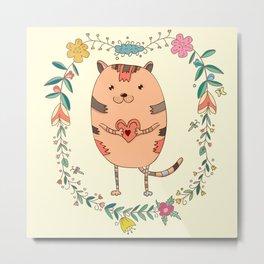 Cute lovely cat Metal Print