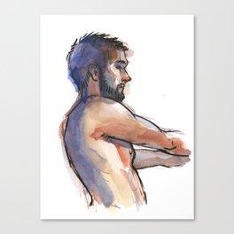 NATE, Semi-Nude Male by Frank-Joseph Canvas Print