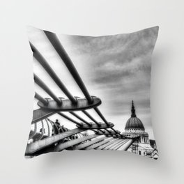 The Millenium Bridge Throw Pillow