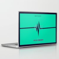 literary Laptop & iPad Skins featuring Literary Quote Poster — Slaughterhouse 5 by Kurt Vonnegut by Evan Beltran