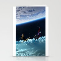 skiing Stationery Cards featuring Skiing by Cs025