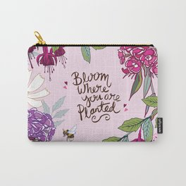 Bloom Where You Are Planted, Sweet Williams Carry-All Pouch