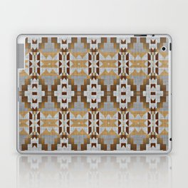 Brown Taupe Tan Gray Native American Indian Mosaic Pattern Laptop & iPad Skin