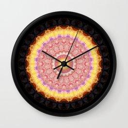 Mandala indian romance Wall Clock