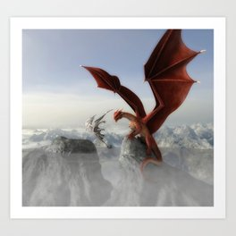 Dragon Fight Art Print