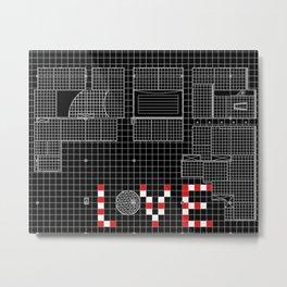Architectural Print - Ceiling Plan - LOVE Metal Print
