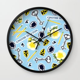 Blue ChaRActer Collage Wall Clock