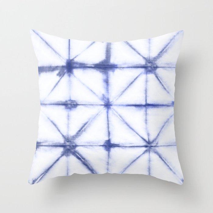Shibori Folds Throw Pillow