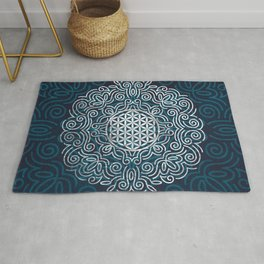 Flower Of Life (Silver Lining) Rug