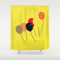 balloon Shower Curtains featuring Balloon by Mr and Mrs Quirynen