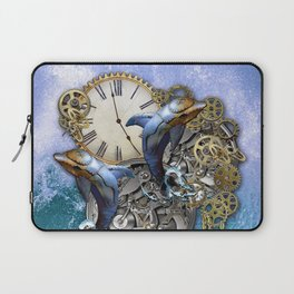 Steampunk Dolphin Time Laptop Sleeve