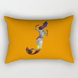 Galaxy Mermaid 2 (Orange) Rectangular Pillow